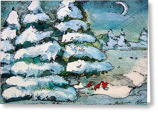 Winter Fest Greeting Card by Mindy Newman