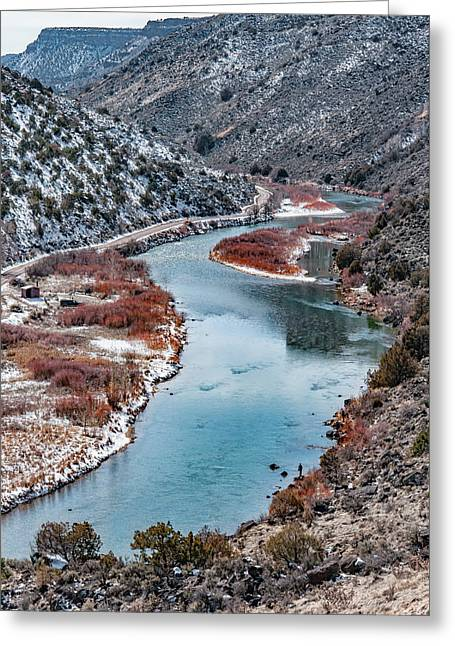 Greeting Card featuring the photograph Winter Fisherman by Britt Runyon