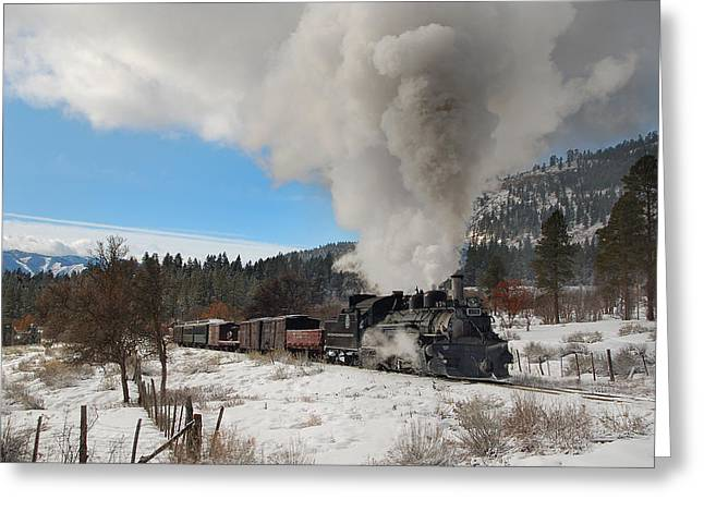 Winter Freight Special Greeting Card by Ken Smith
