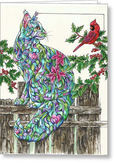 Winter Friends Greeting Card by Sherry Shipley