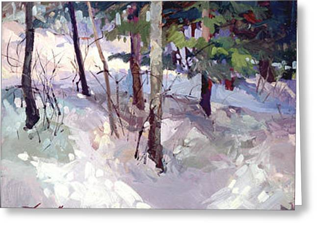 Winter Garden Plein Air Greeting Card