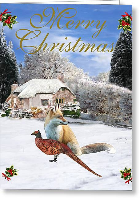 Winter Garden Christmas Greeting Card