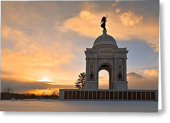Winter Gettysburg Sunrise Greeting Card