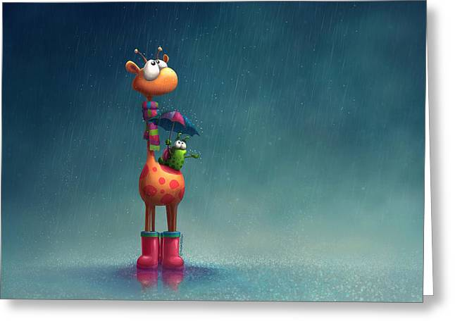 Winter Giraffe Greeting Card