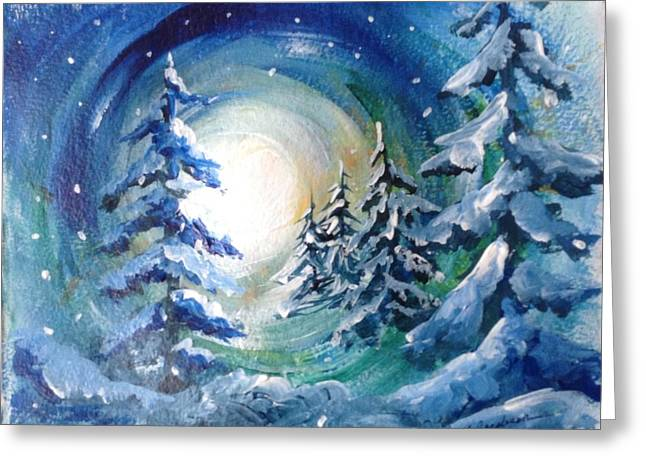 Winter Glow Greeting Card by Marilyn Jacobson
