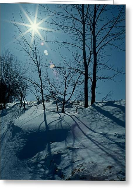 Winter Glow Greeting Card by Raju Alagawadi