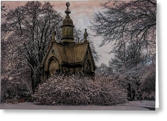Greeting Card featuring the digital art Winter Gothik by Chris Lord