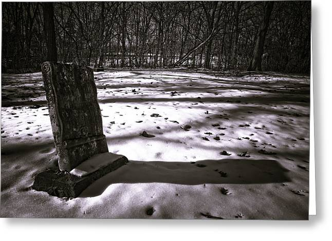 Winter Grave Greeting Card by George Christian