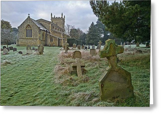 Winter Graveyard Greeting Card