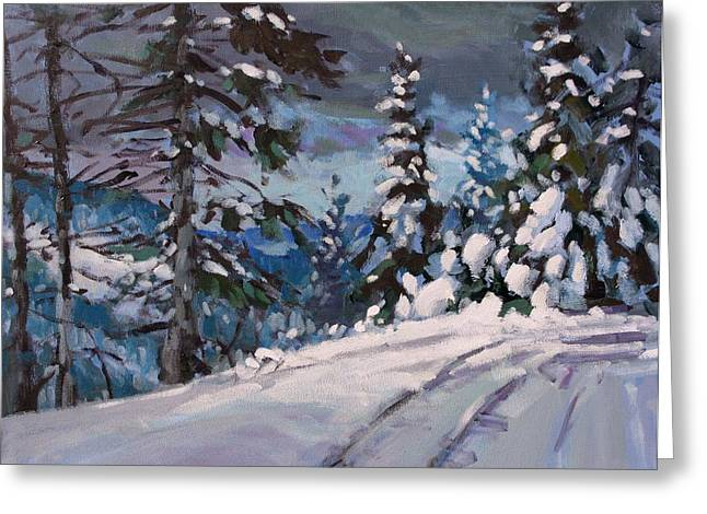 Winter Grays 2 Greeting Card by Brian Simons