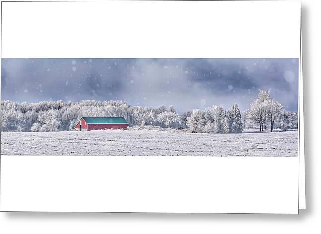 Winter Grey County Greeting Card