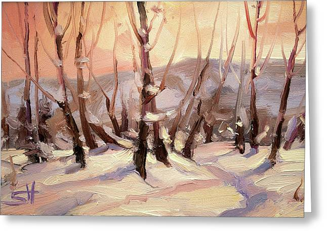 Winter Grove Greeting Card