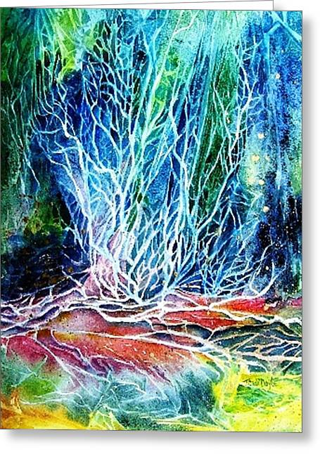 Winter Habitat No.2  Greeting Card by Trudi Doyle
