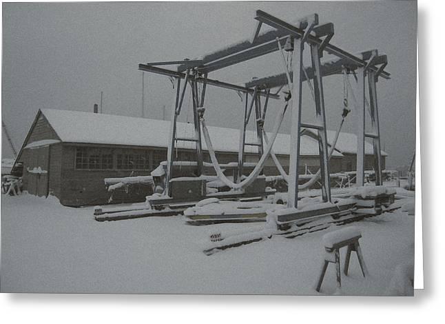 Winter Hoist Greeting Card by Paul Barlo