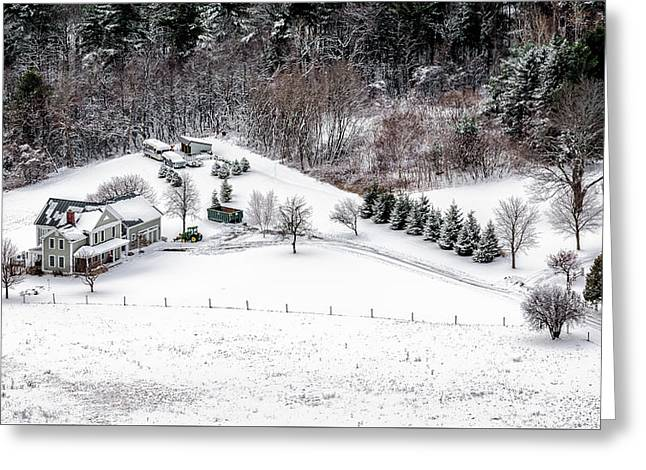 Winter Homestead Greeting Card
