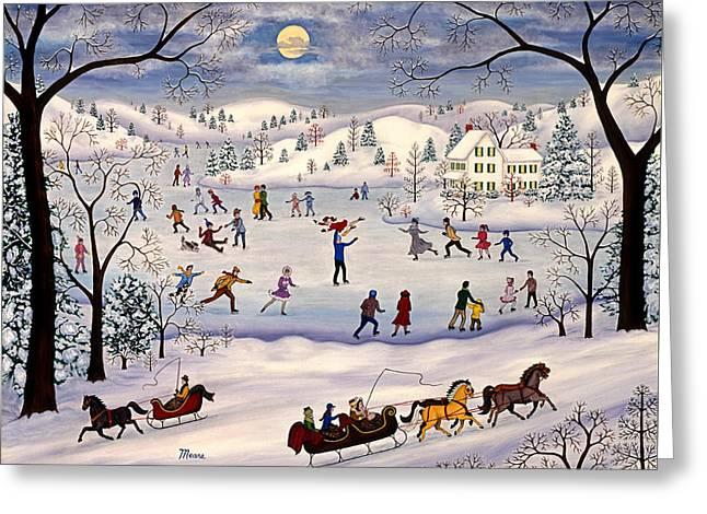 Winter Ice Skating Greeting Card
