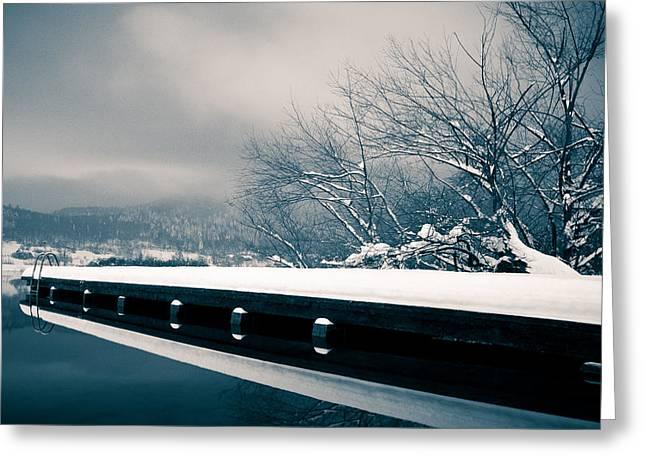 Winter Idyl Greeting Card by Luka Matijevec