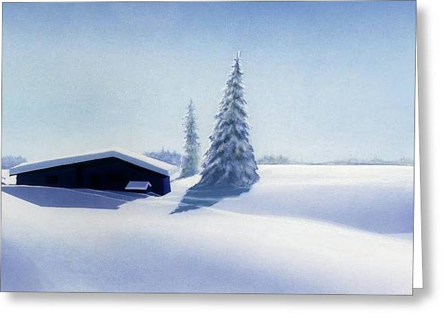 Winter In Austria Greeting Card