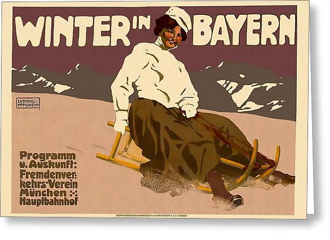 Winter In Bayern Greeting Card by David Wagner