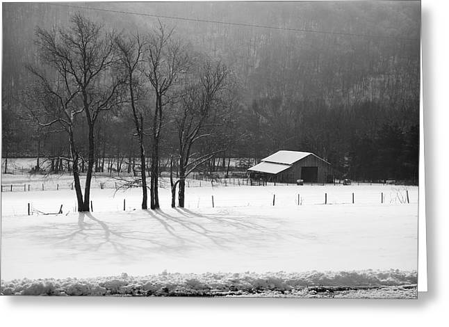 Greeting Card featuring the photograph Winter In Boxley Valley by Michael Dougherty
