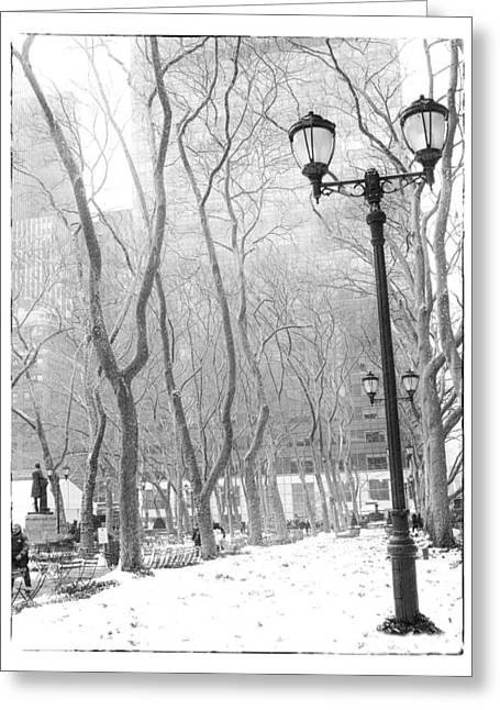 Winter In Byrant Park Greeting Card by Jessica Jenney