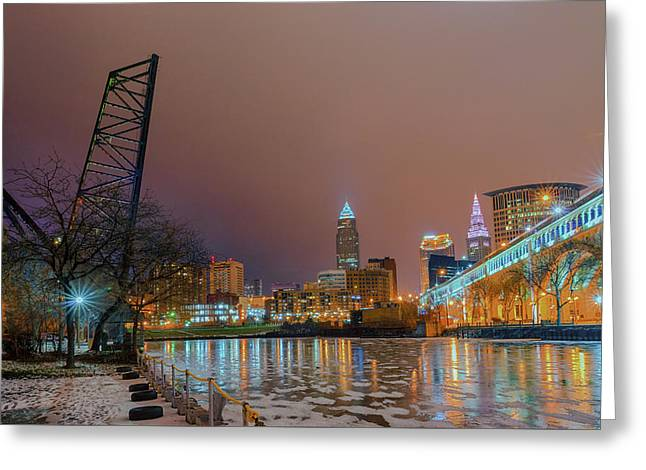 Winter In Cleveland, Ohio  Greeting Card