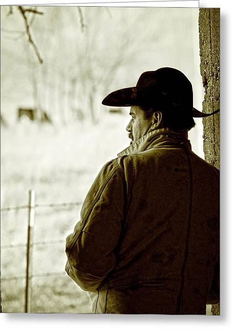 Ranch Life Greeting Cards - Winter in Cow Country Greeting Card by Ron  McGinnis