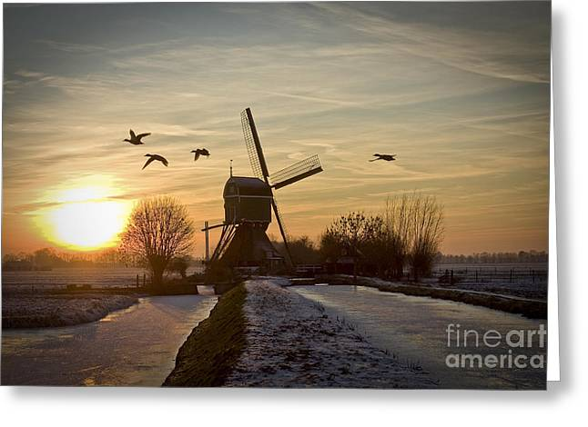 Winter In Holland-2 Greeting Card