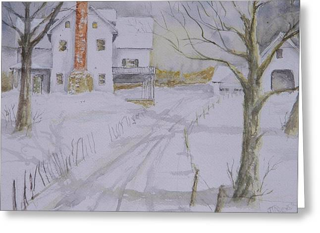 Winter In Maine Greeting Card by Jim Decker
