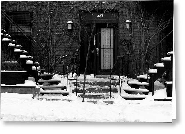 Winter In Montreal Greeting Card by Robert Knight