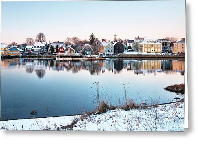 Winter In Portsmouth Greeting Card by Eric Gendron