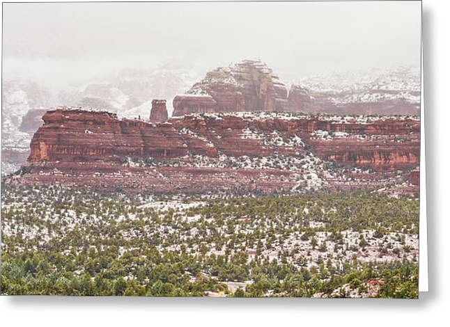 Winter In Sedona Greeting Card