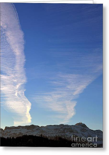 Winter In Switzerland - All The Clouds Greeting Card