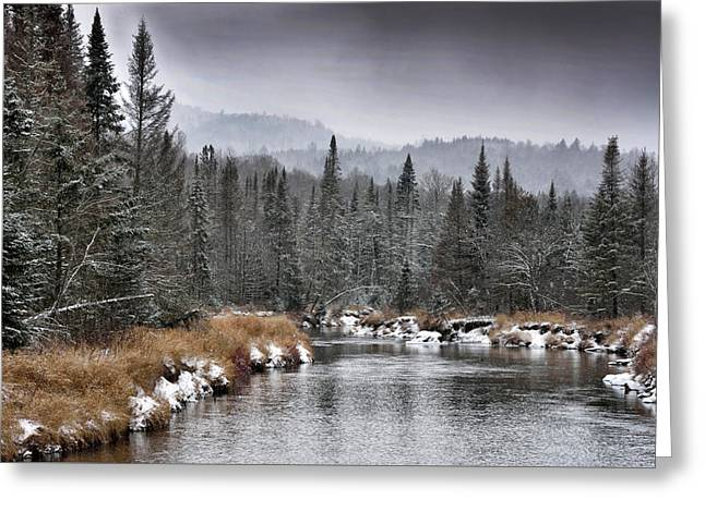 Greeting Card featuring the photograph Winter In The Adirondack Mountains - New York by Brendan Reals