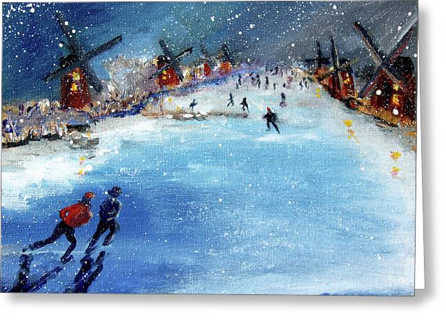 Winter In The Netherlands Greeting Card