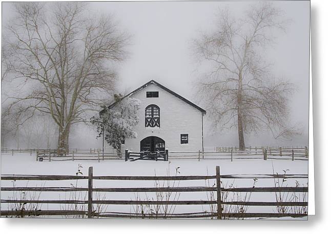 Winter In Whitemarsh Pa Greeting Card by Bill Cannon