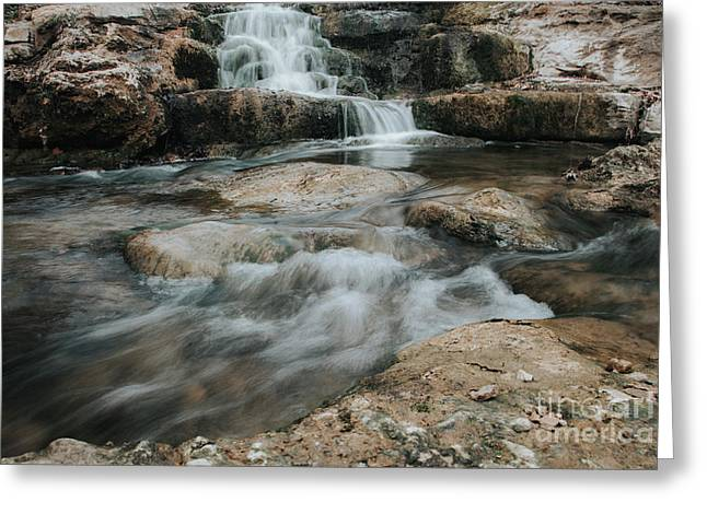 Greeting Card featuring the photograph Winter Inthe Falls by Iris Greenwell