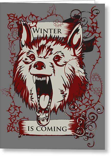 Greeting Card featuring the digital art Winter Is Coming by Christopher Meade