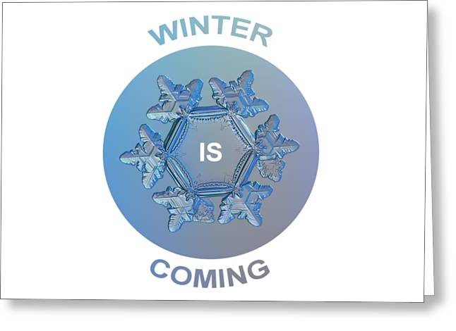 Winter Is Coming - Snowflake Illustration Greeting Card