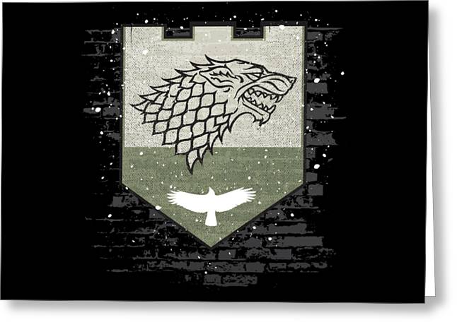 Winter Is Here Stark Banner Greeting Card