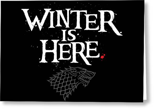 Winter Is Here - Stark Sigil Greeting Card