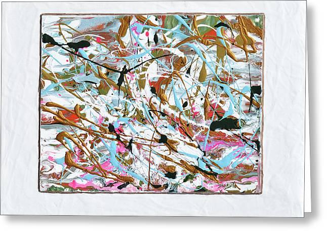 Winter Joy Greeting Card by Donna Blackhall