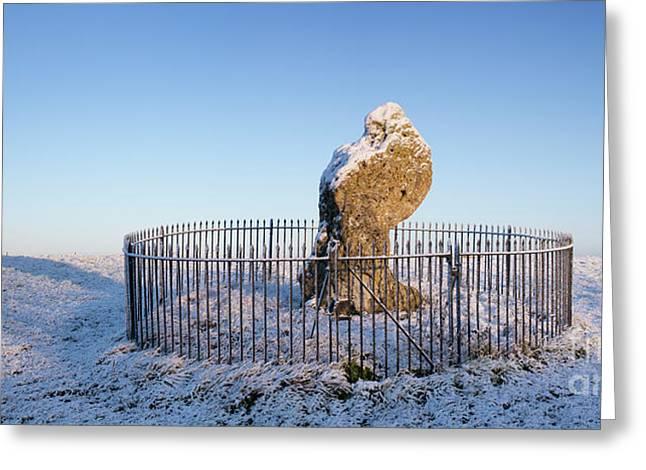 Winter King Stone Greeting Card