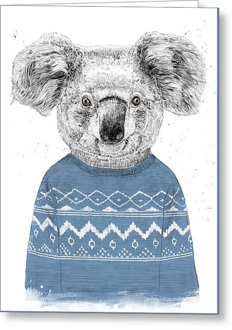 Winter Koala Greeting Card