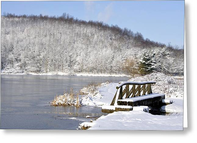 Winter Lake Greeting Card
