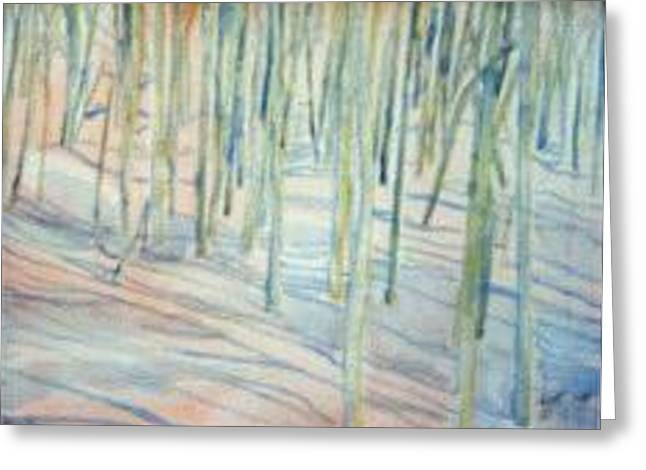 Winterland Scape Greeting Cards - Winter Landscape 1 Greeting Card by Lloyd Bast