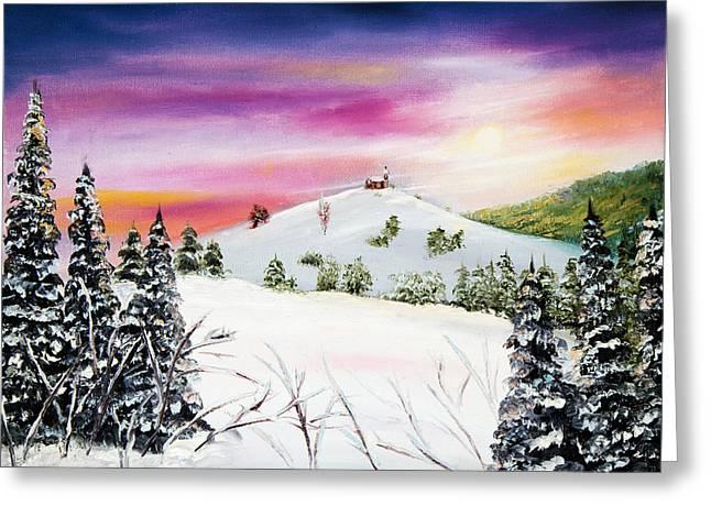 Winter Landscape Greeting Card by Boyan Dimitrov