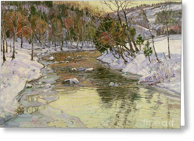Winter Landscape Greeting Card by George Gardner Symons