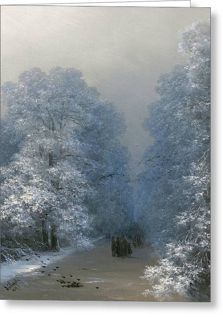 Winter Landscape Greeting Card by Ivan Aivazovsky