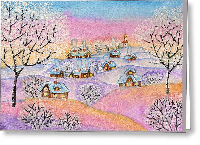 Winter Landscape, Painting Greeting Card